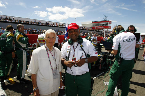 Hazel Chapman and Tony Fernandes