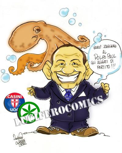 Berlusconi e il Polpo Paul