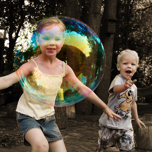 Soap bubble fun