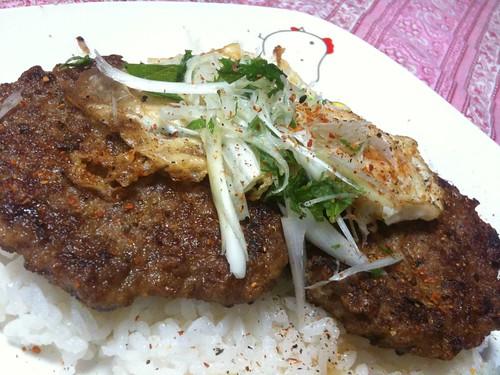 #jisui ロコモコのバター醤油風味で!