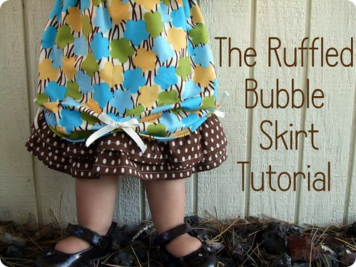 ruffled bubble skirt tutorial