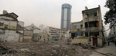 403_1000642-pan (bricoleurbanism) Tags: china buildings shanghai demolition historic