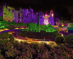 it's a small world (Matt Pasant) Tags: vacation holiday night canon time personal outdoor disneyland hdr highdynamicrange itsasmallworld smallworld tonemapped cs5 imagetype photospecs canonef1635mmf28liiusm canoneos5dmarkii 5dmarkii