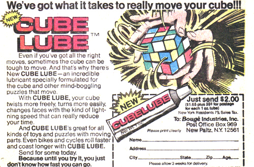 Vintage Ad #1,155: A Tube of Cube Lube