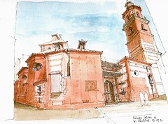 Mlaga, Iglesia de los Mrtires (Luis_Ruiz) Tags: church architecture sketch spain drawing perspective andalucia andalusia dibujo malaga mlaga urbansketchers