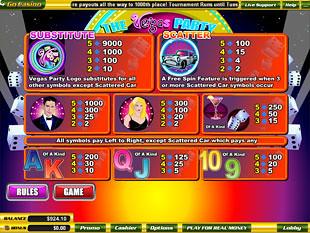 free Vegas Party slot mini symbol