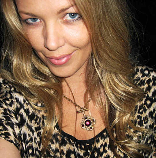 gilded necklace+leopard print+vintage gold gilded jeweled necklace 90's
