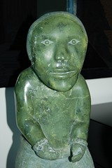 Staring back at the Green Soapstone Man... Doreen's Treasures (jungle mama) Tags: sculpture man green eye art carving lip vein staring doreen greenman eskimo soapstone dragondaggerphoto