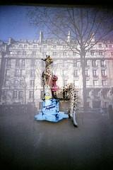 naturellement pulpeuse (Romps) Tags: paris france reflection film window giraffe pulp orangina singleexposure vivitarultrawideandslim march2010