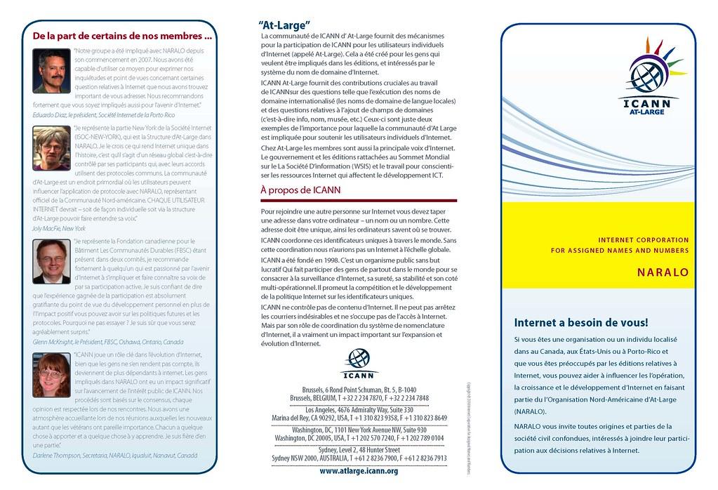 Brochure NARALO 2010 tri-plié - 1