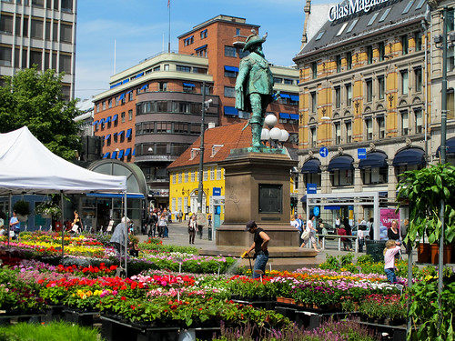 Flowered Square - Oslo, Norway