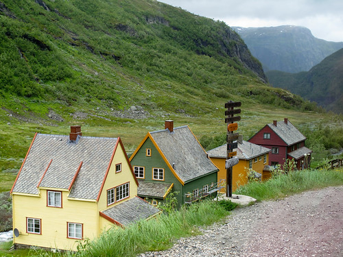 Transferring to the Flam Railway - Myrdal, Norway