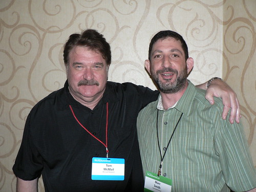 Tom McMail and Marc Smith at 2010 MSR Faculty Summit