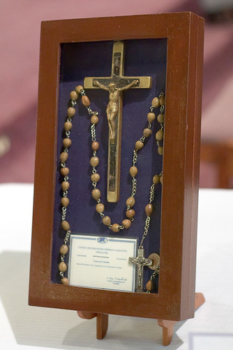 Saints Teresa and Bridget Roman Catholic Church, in Saint Louis, Missouri, USA - Relics of Blessed Teresa of Calcutta - Crucifix and Rosary