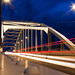 Arnhem by night: John Frost bridge