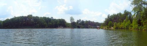 Saluda Lake Dam Panorama