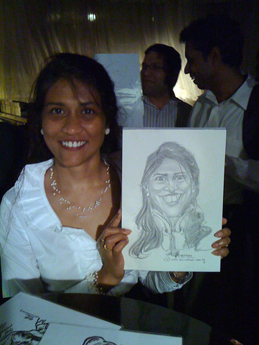 caricature live sketching for RBS 14 July 2010 - 8
