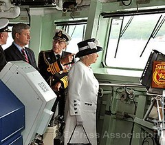 Royal Visit to Canada 2010 (The British Monarchy) Tags: bridge canada novascotia review halifax fleet naval stephenharper hmcs