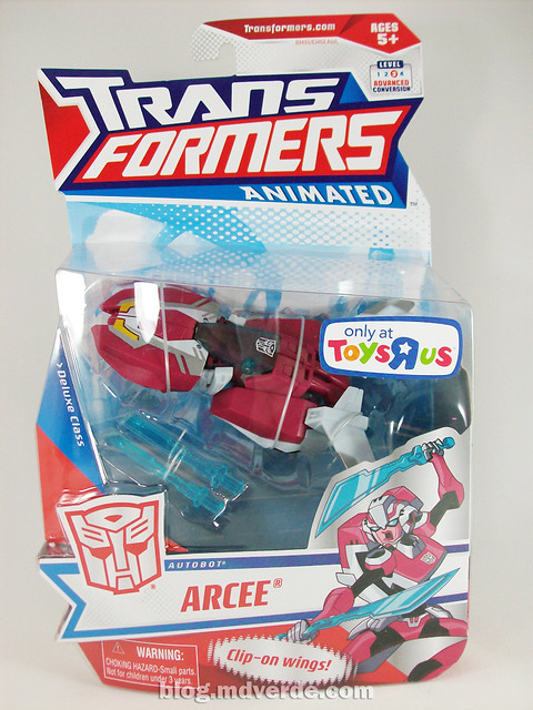Transformers Arcee Animated Deluxe - caja