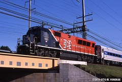 CDOT 130 at South Norwalk, CT (ovondrak) Tags: metronorth cdot bl20gh