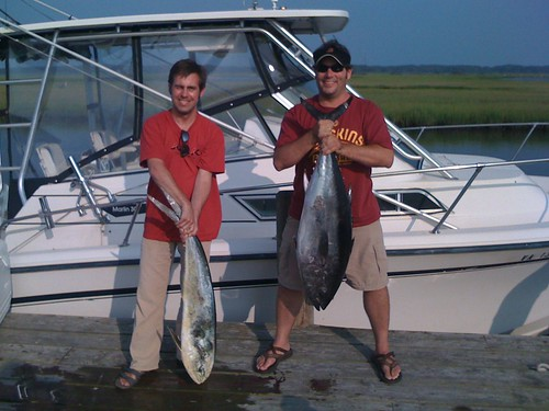 Rob & Kevin:  1 bft 1 mahi from Sam's Hill July 2010