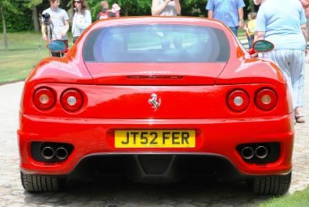 Red Ferrari 360 Modena, rear view at Scuderia Italia (Cliveden June 2010)