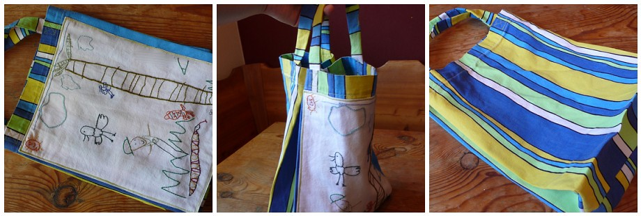 Sparky's embroidered tote bag