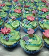 Make a wish (The Whole Cake and Caboodle ( lisa )) Tags: flowers blue newzealand glitter butterfly cupcakes teal tinkerbell fairy cupcake toadstool swirl fairies whangarei caboodle cachous jorja sugarpearls thewholecakeandcaboodle
