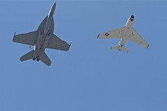 F-18 and FJ-4 (Erugifog) Tags: jet airshow mcchord f18 70200mm fj4 canon7d