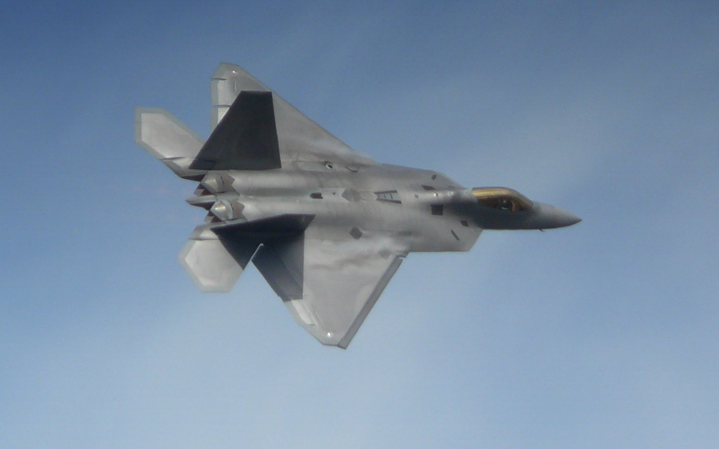 F-22 at Farnborough Airshow 2010