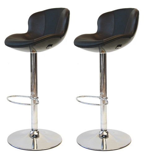 Tabouret de bar golf x2 noir marron design neuf ebay - Ebay tabouret de bar ...