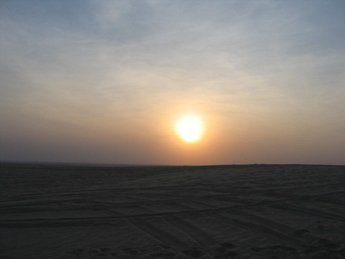 Desert sunset (near Doha)