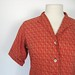 rust red paisley blouse, by Bill Atkinson glen of michigan