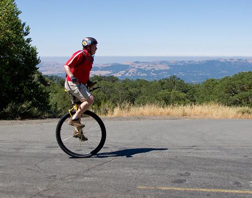 Tim climbing Mount Diablo
