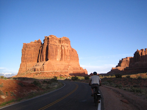 Biking in Arches National Park, Utah