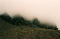 (genevive bjargardttir) Tags: summer mountains cold film fog analog 35mm iceland iso400 july olympus east om1 fjords sland austfirir austerland genevivebjargardttir
