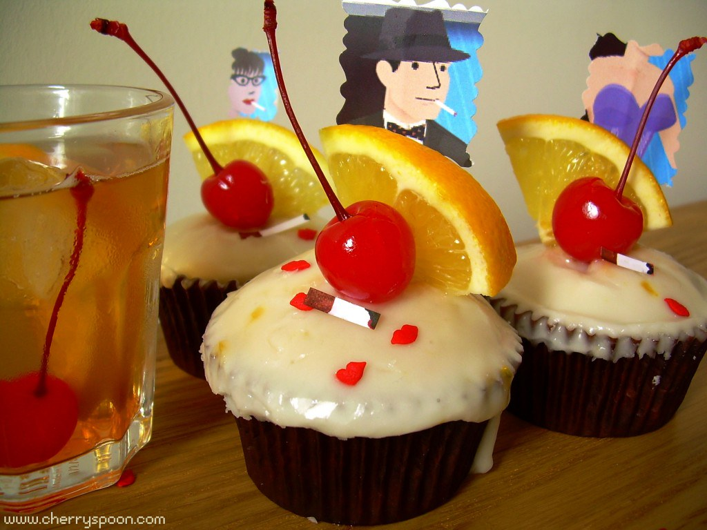 ... Pryce and Joan Holloway cupcakes, plus bourbon Old Fashioned cupcakes
