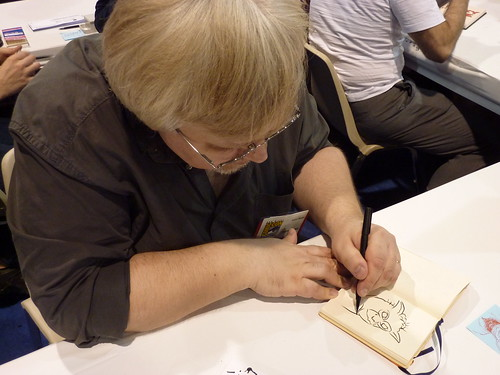 Andrei Molotiu sketches - Fantagraphics at Comic-Con 2010