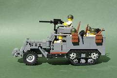 M3A1 Half-Track (3) (Dunechaser) Tags: usa army us lego military worldwarii american armor ww2 m3 apc halftrack allies allied m3a1 brickarms