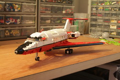 jet WIP (psiaki) Tags: airplane lego flight jet tintin passenger supersonic 714 moc carreidas