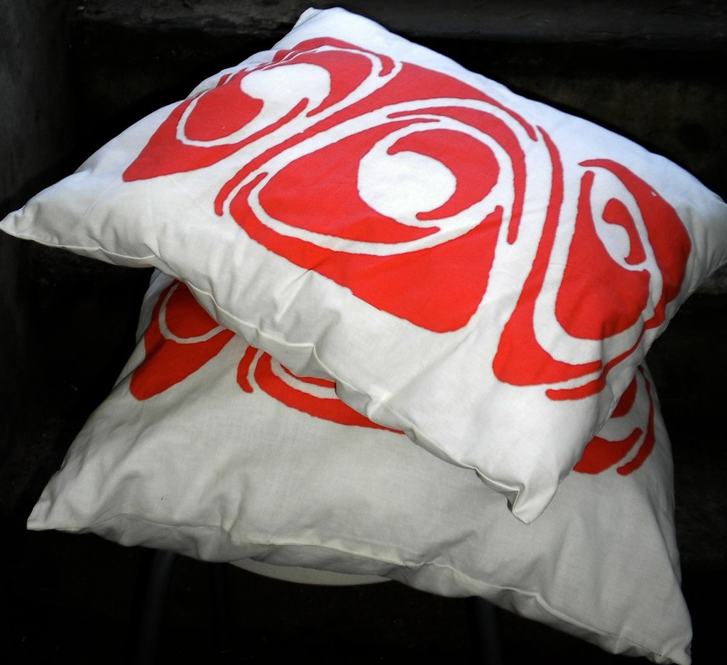 Decorative Pillow in Abstract Design