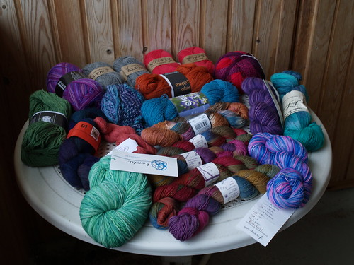 A part of my yarn collection.