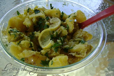 Lemon Potato Salad @ Living the Gourmet