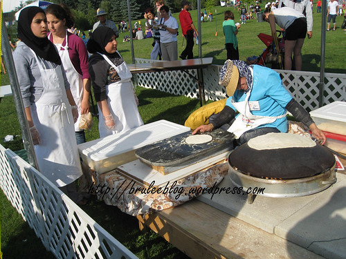 bread making at the Arab pavilion