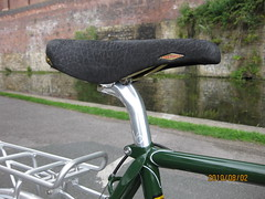 Ellis Briggs Super Tourist Saddle (ellisbriggscycles) Tags: handmade steel touring nitto lugged reynolds531 ellisbriggs veloorange supertourist enamelmidbrunswickgreen