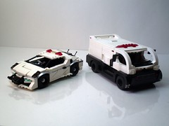 Futuristic Japanese Police Vehicles