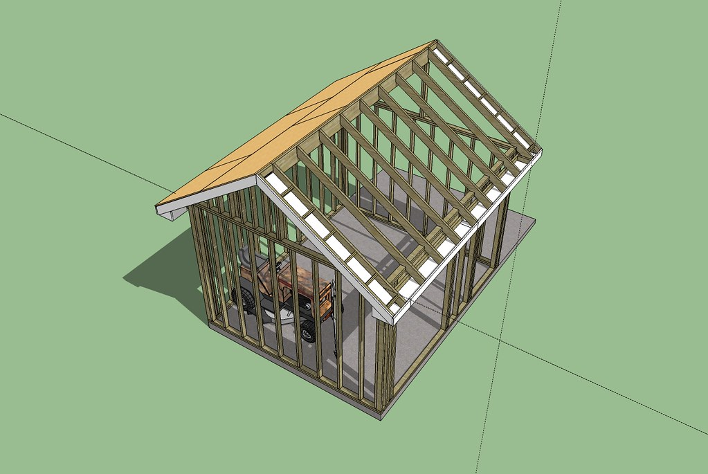 My future shed/wood shop 3D plans....based on jig sticks construction - Page 2 - MyTractorForum ...