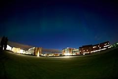 Aurora polaris (Dmitry Valberg) Tags: street longexposure light norway night dark one nikon exposure fisheye 10s nightphoto nikkor capture fx 16mm lillestrm c1 15s lowiso akerhus aurorapolaris d3x