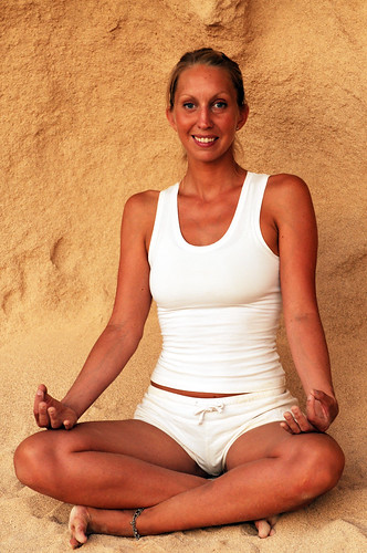 Ibiza yoga: How to do Sukasana
