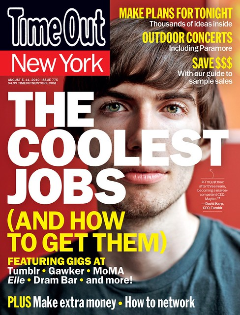 Tumblr on the cover of Time Out New York
